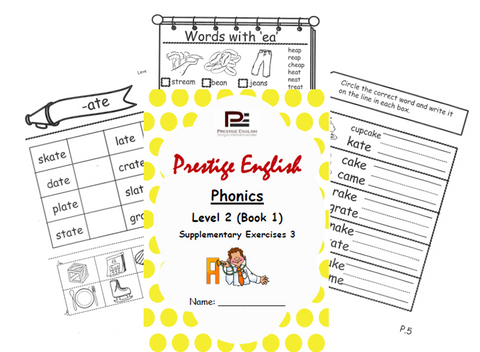 Phonics Book – Level 2 (Book 1) – SUPPLEMENTARY EXERCISES 3 ( Jolly Phonics / Letterland ) - Download