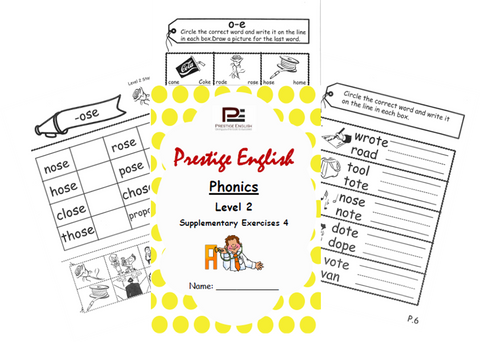 Phonics Book – Level 2 (Book 2) – SUPPLEMENTARY EXERCISES 4 ( Jolly Phonics / Letterland ) - Download