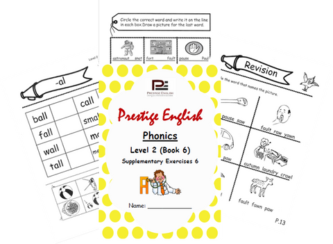 Phonics Book – Level 2 (Book 2) – SUPPLEMENTARY EXERCISES 6 ( Jolly Phonics / Letterland ) - Download