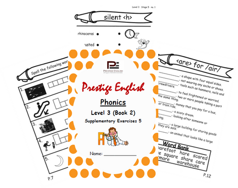 Phonics Book – Level 3 (Book 2) – SUPPLEMENTARY EXERCISES 5 ( Jolly Phonics / Letterland ) - Download