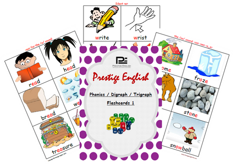 Phonics / Digraph / Trigraph FLASHCARDS 1 ( Jolly Phonics / Letterland ) - FREE - Download