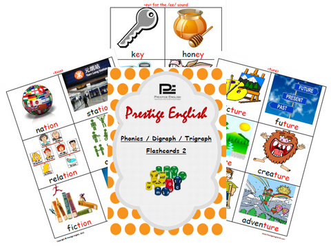 Phonics / Digraph / Trigraph FLASHCARDS 2 ( Jolly Phonics / Letterland ) - FREE - Download