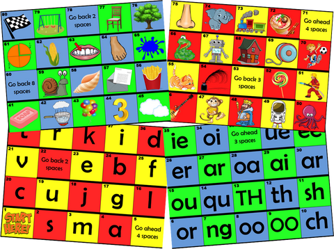 Phonics Board Games - Download