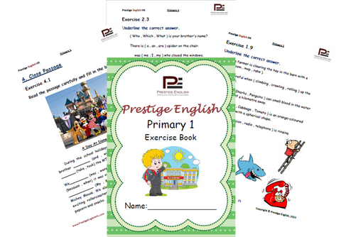 English Exercise Book – Primary 1 (ages 6 and up) - Download