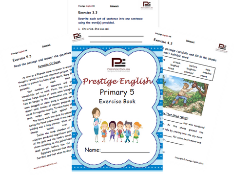 English Exercise Book – Primary 5 (approximately ages 9/10 and up) - Download