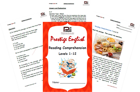 FREE Reading Comprehension Book - Levels 1-12 - SAMPLE - Download