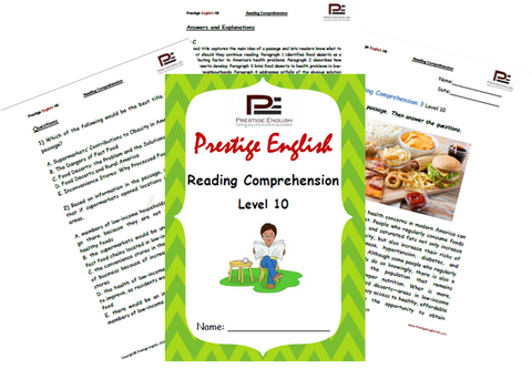 Reading Comprehension Book - Level 10 - Download