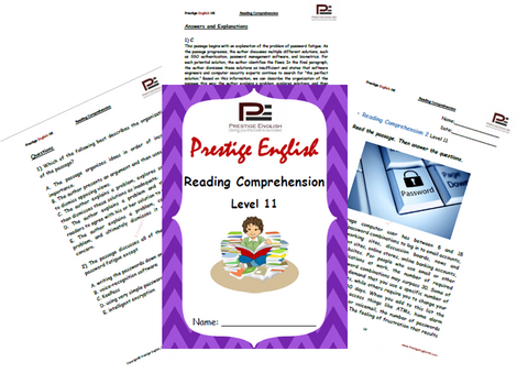 Reading Comprehension Book - Level 11 - Download