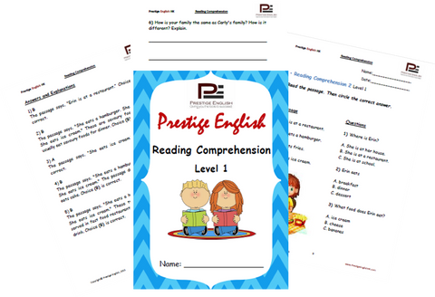 Reading Comprehension Book - Level 1 - Download