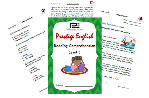 Reading Comprehension Book - Level 3 - Download