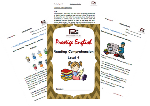 Reading Comprehension Book - Level 4 - Download