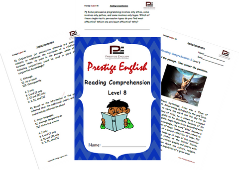 Reading Comprehension Book - Level 8 - Download