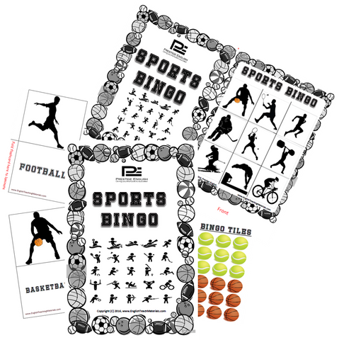 BINGO - Sports Bingo (B&W) | Fun Game - Download