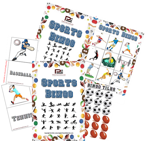 BINGO - Sports Bingo (Clipart) | Fun Game - Download