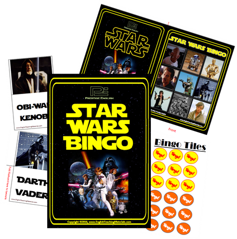BINGO - Star Wars (1977-1983) Bingo | Fun Game - Download