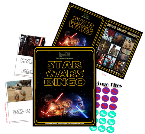 BINGO - Star Wars (2015) Bingo | Fun Game - Download