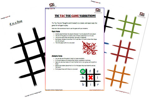 Tic Tac Toe Game/Template (Noughts and Crosses) - FREE - Download