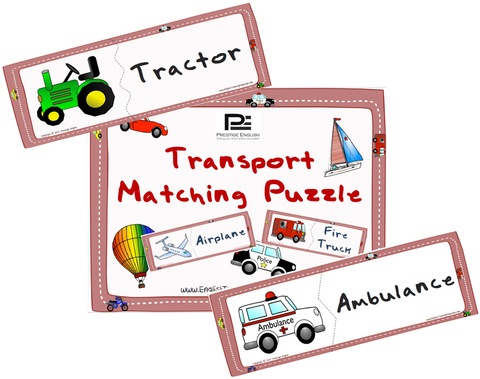 Matching Puzzle - Transportation - Download