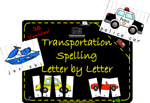 Transportation Spelling | Letter by Letter - Download