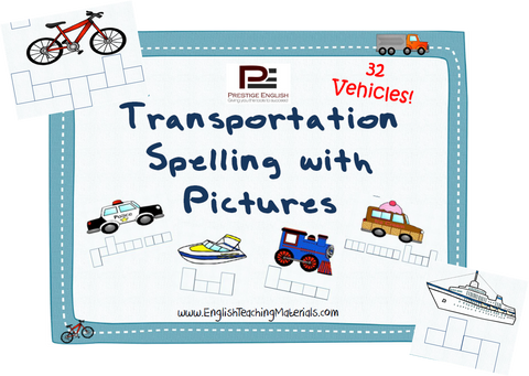 Transportation Spelling with Pictures - Download