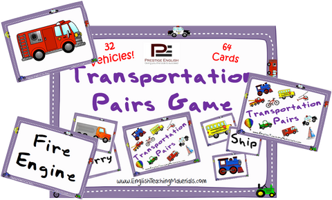 Transportation Pairs Game - Download