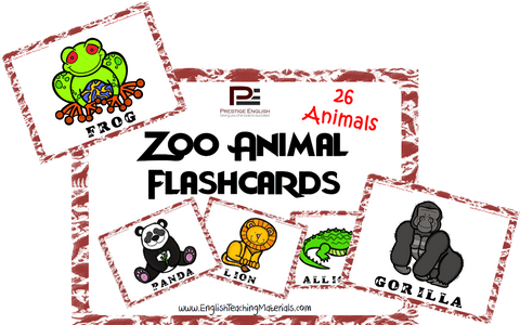 Zoo Animal Flashcards | FREE - Download