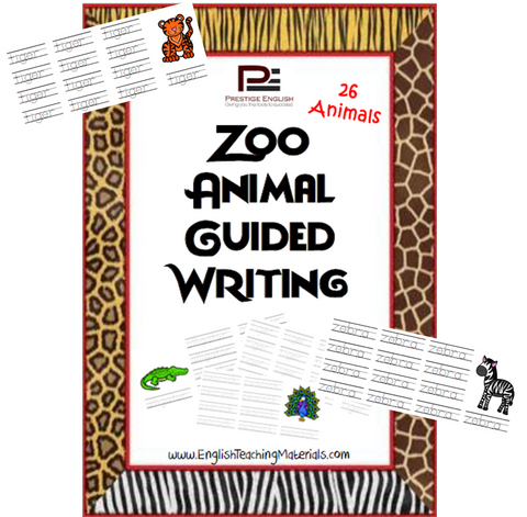 Zoo Animals Guided Writing - Download