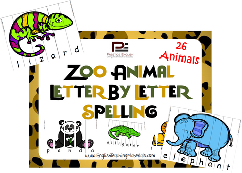 Zoo Animals Letter by Letter Spelling - Download