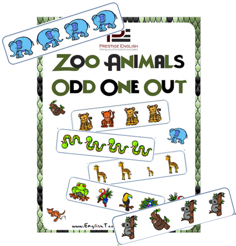 Zoo Animals Odd One Out - Download