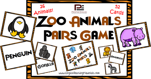 Zoo Animals Pairs Game