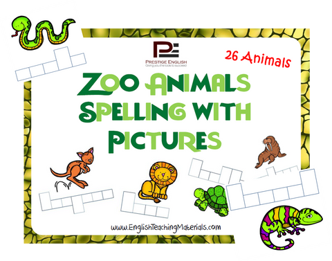Zoo Animals Spelling with Pictures - Download