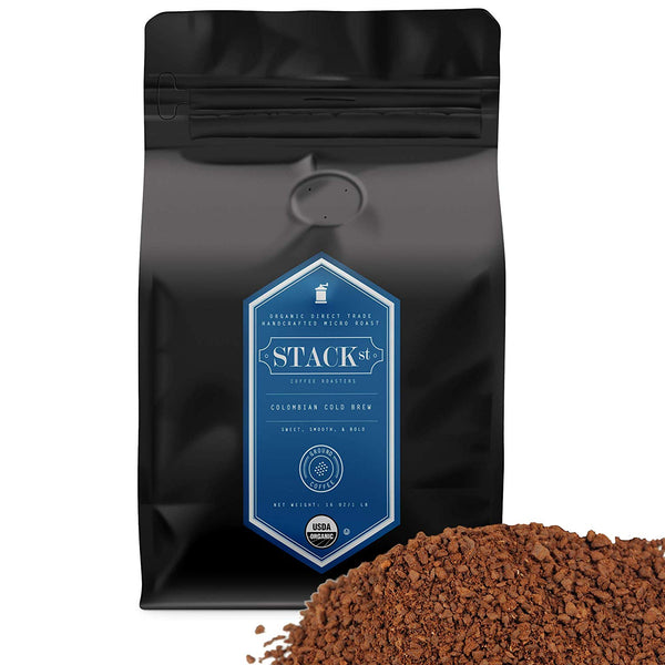 STACK STREET™ Cold Brew Colombian Supremo Reserve Organic Coffee, Ground, 1 LB