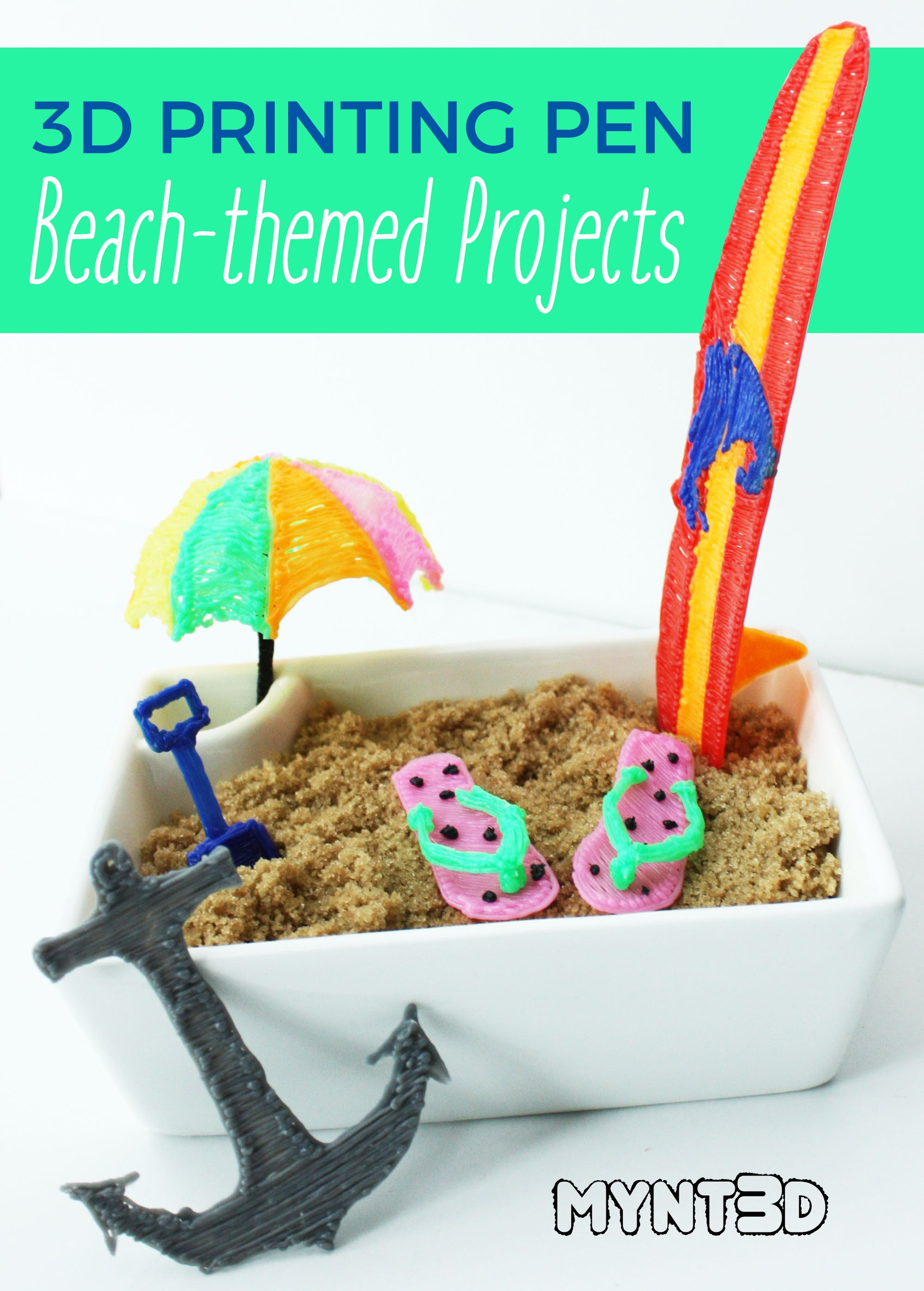 Beach-themed Projects Made with a 3D Printing Pen
