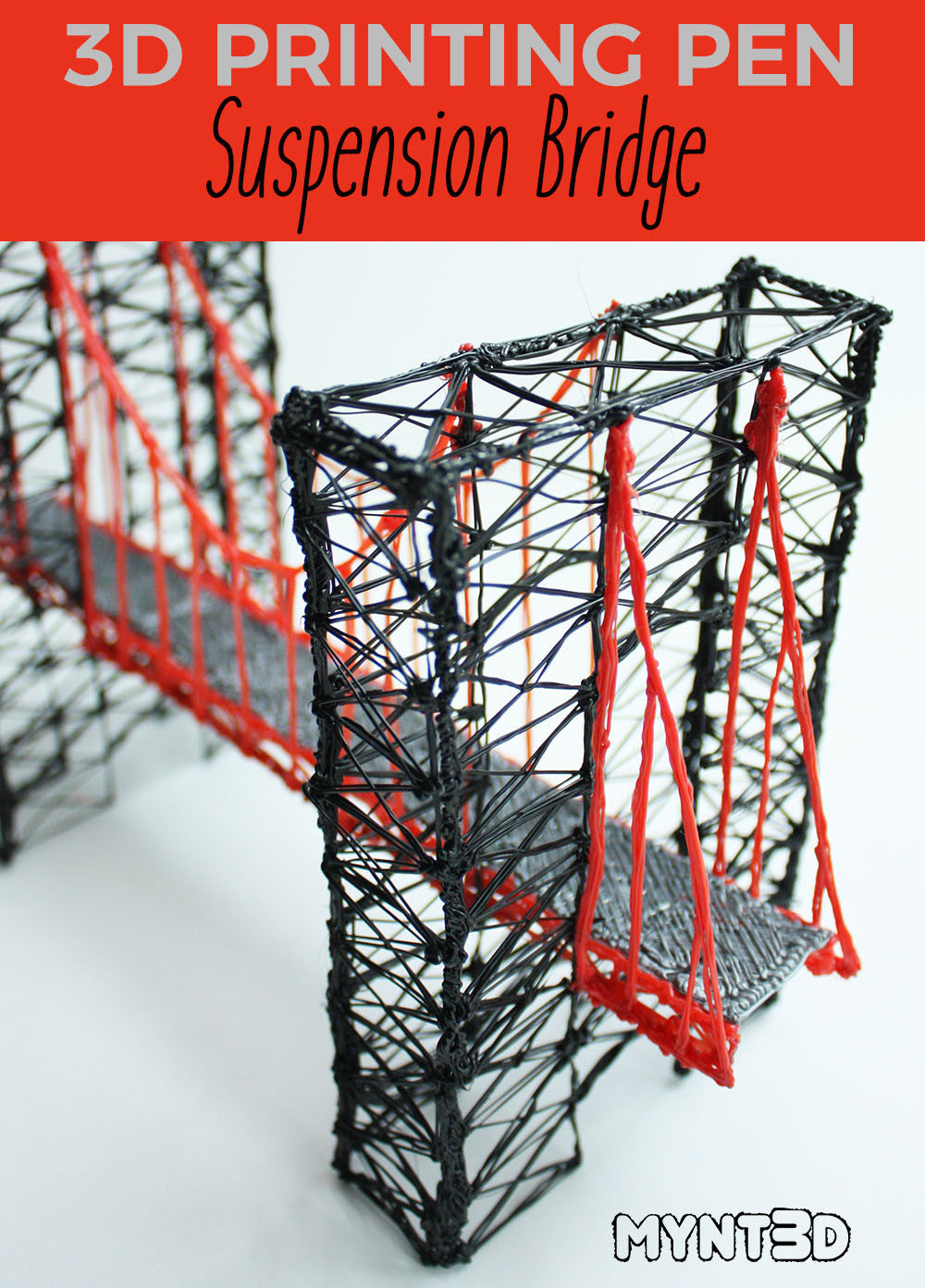 Suspension Bridge Made with a 3D Printing Pen