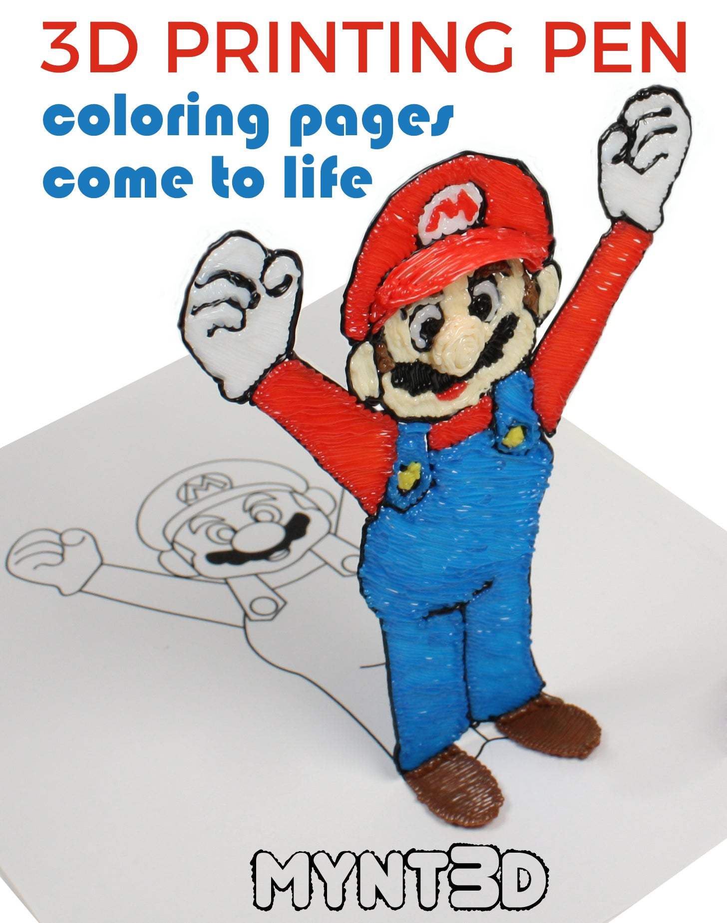 Mario Kart 3D Drawing Coloring Pages