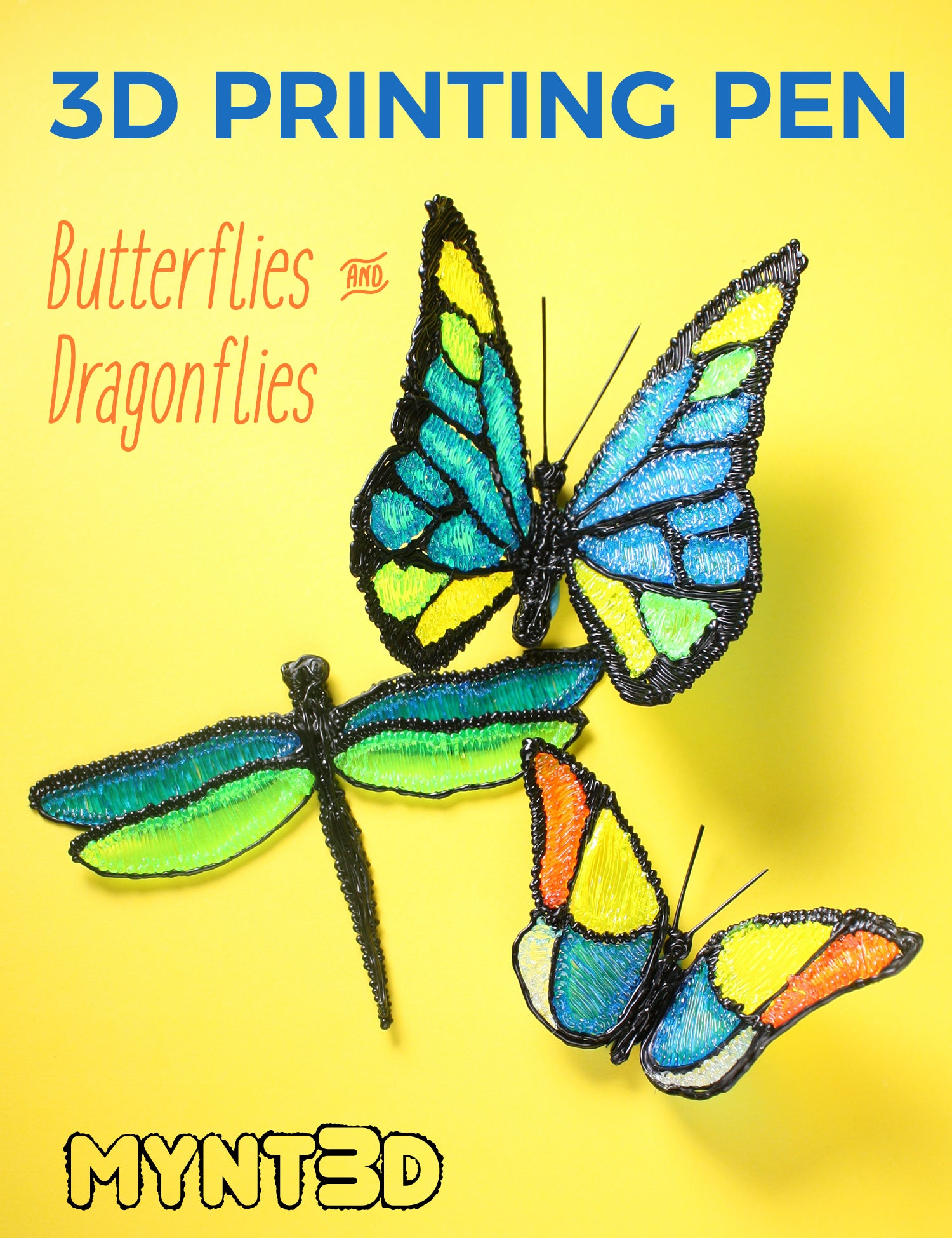 photo relating to 3doodler Stencils Printable identify Butterfly and Dragonfly 3D Pen Initiatives - MYNT3D