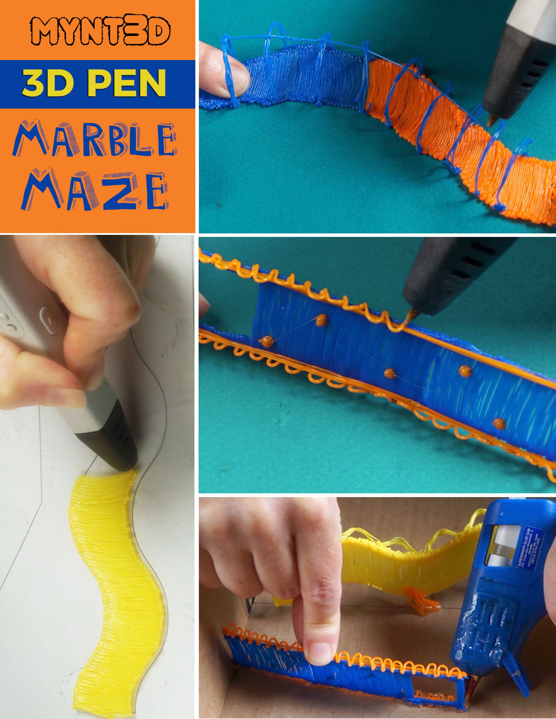 3D Printing Pen Marble Maze STEAM Activity