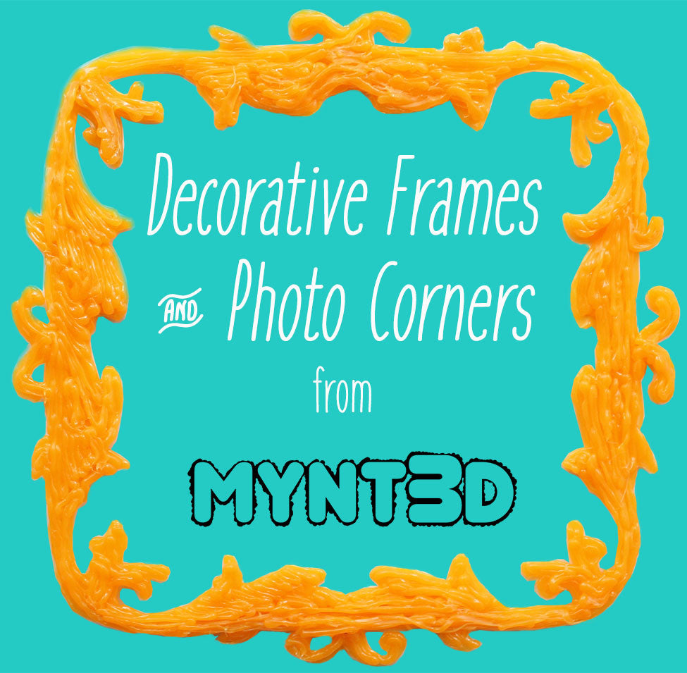 Frames and Photo Corners Made with a 3D Pen