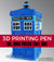 Dr. Who Phone Booth 3D Pen Project