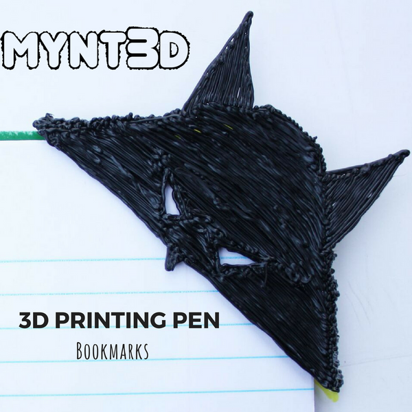 Learn how to make the Batman superhero bookmark with the MYNT3D printing pen with the free printable template on the projects page of the website