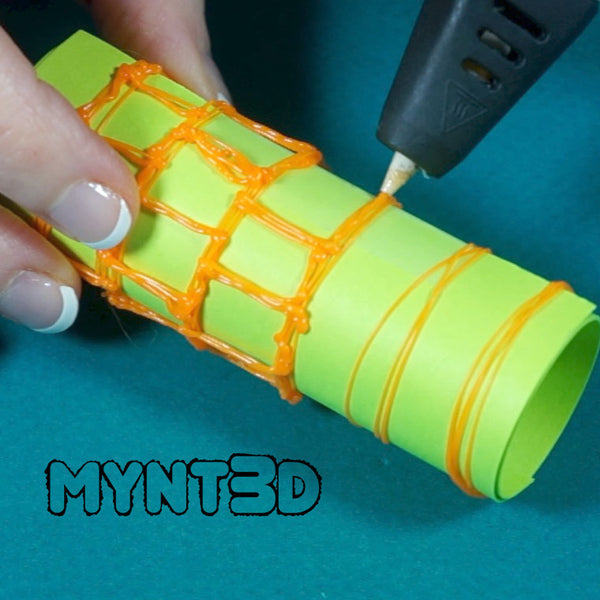 DIY flashlight holder necklace for Halloween safety - made with the MYNT3D printing pen