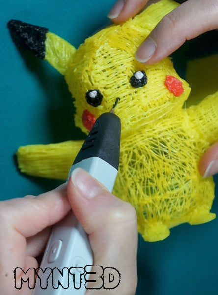 Pokemon DIY kids craft making Pikachu with the MYNT3D printing pen free printable project template instant download