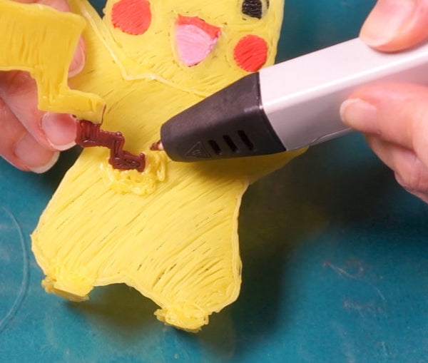 3D printing pen beginner easy project for getting started with the MYNT3D printing pen | Pokemon Pikachu DIY craft for kids