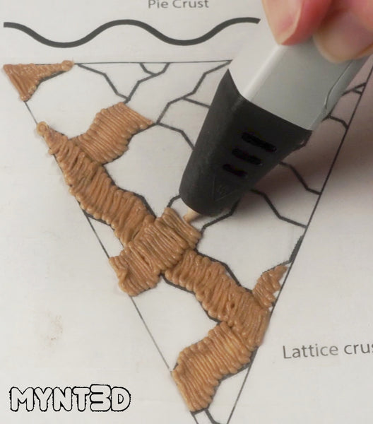 Lattice Cherry Pie Fake Food 4th of July Craft Project ideas with the MYNT3D printing pen. Make patriotic dessert projects with the free stencil template.