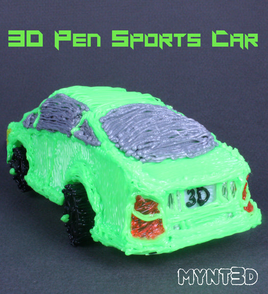 3d pen sports car project template | Design your own car with the MYNT3D printing pen | Best gift for middle school high school boys and girls who love technology, design and manufacturing | Hands on learning activities with no screen time, screen-free