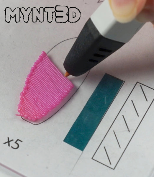 free project template stencil for 3D printing pens | Summer crafts DIY pinwheel wind spinners