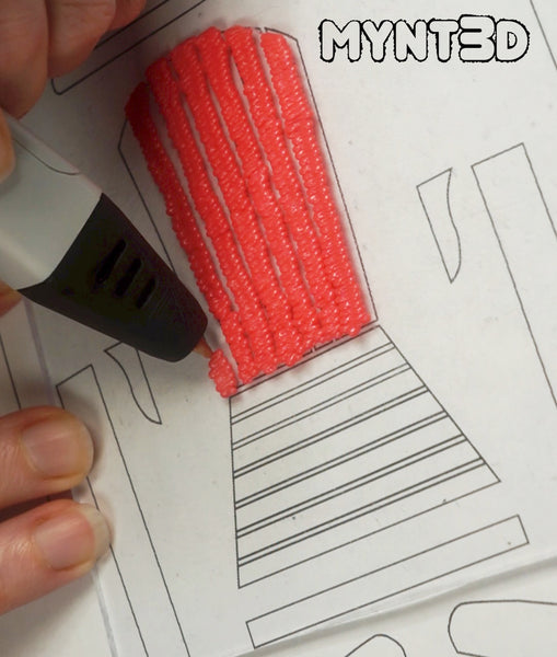 3D printing pen Adirondack chairs set to make with the free template from MYNT3D