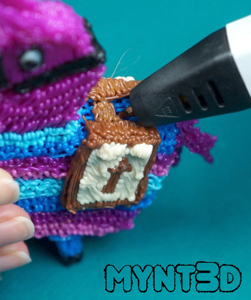 Loot Llama 3D pen instructions using free project template from MYNT3D | fun, screen-free activity for teens and students, fans of the popular video game Fortnite