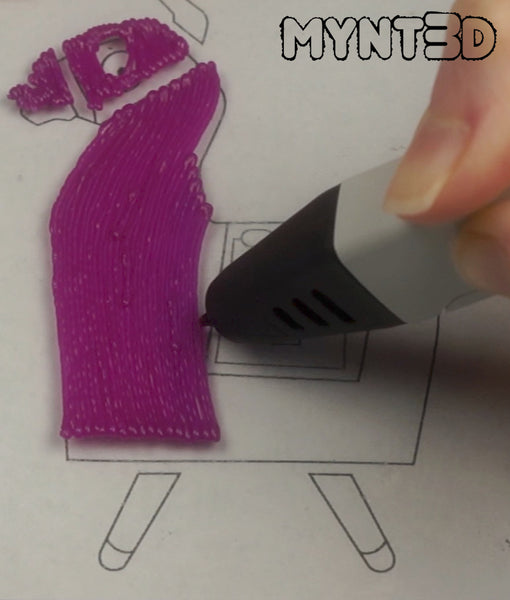 Get the free 3D pen template stencil from MYNT3D to make the Fortnite video game Loot Llama character