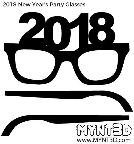 3D printing pen FREE template New Years Eve holiday DIY glasses project